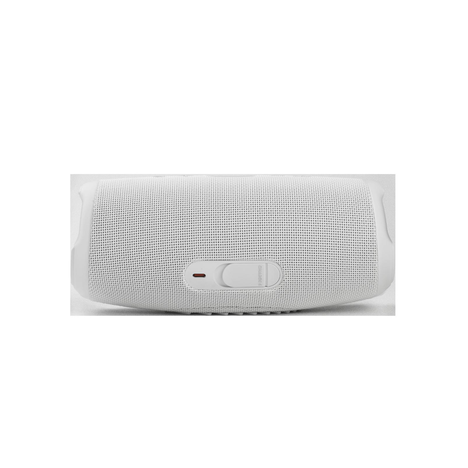 JBL CHARGE 5 - White - Portable Waterproof Speaker with Powerbank - Back