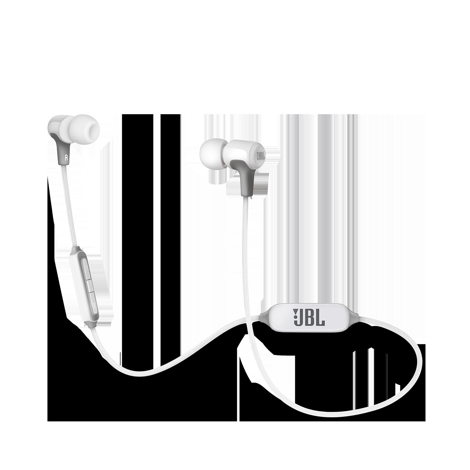 E25BT - White - Wireless in-ear headphones - Hero