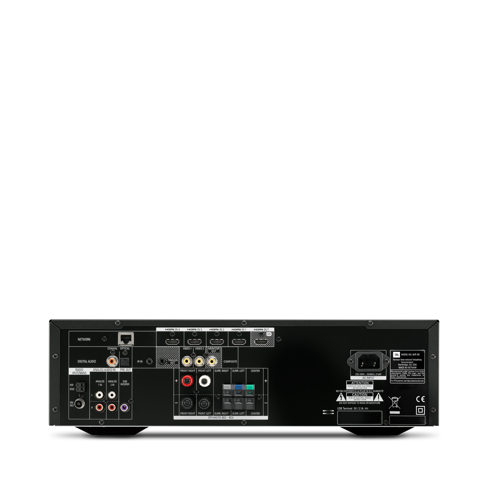 Avr 101 375 Watt 5 1 Channel Networked Audio Video