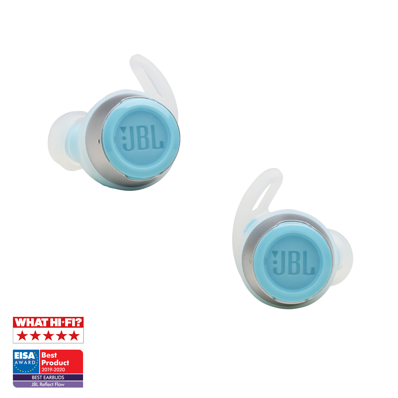 JBL Reflect Flow - Teal - True wireless sport headphones. - Detailshot 3