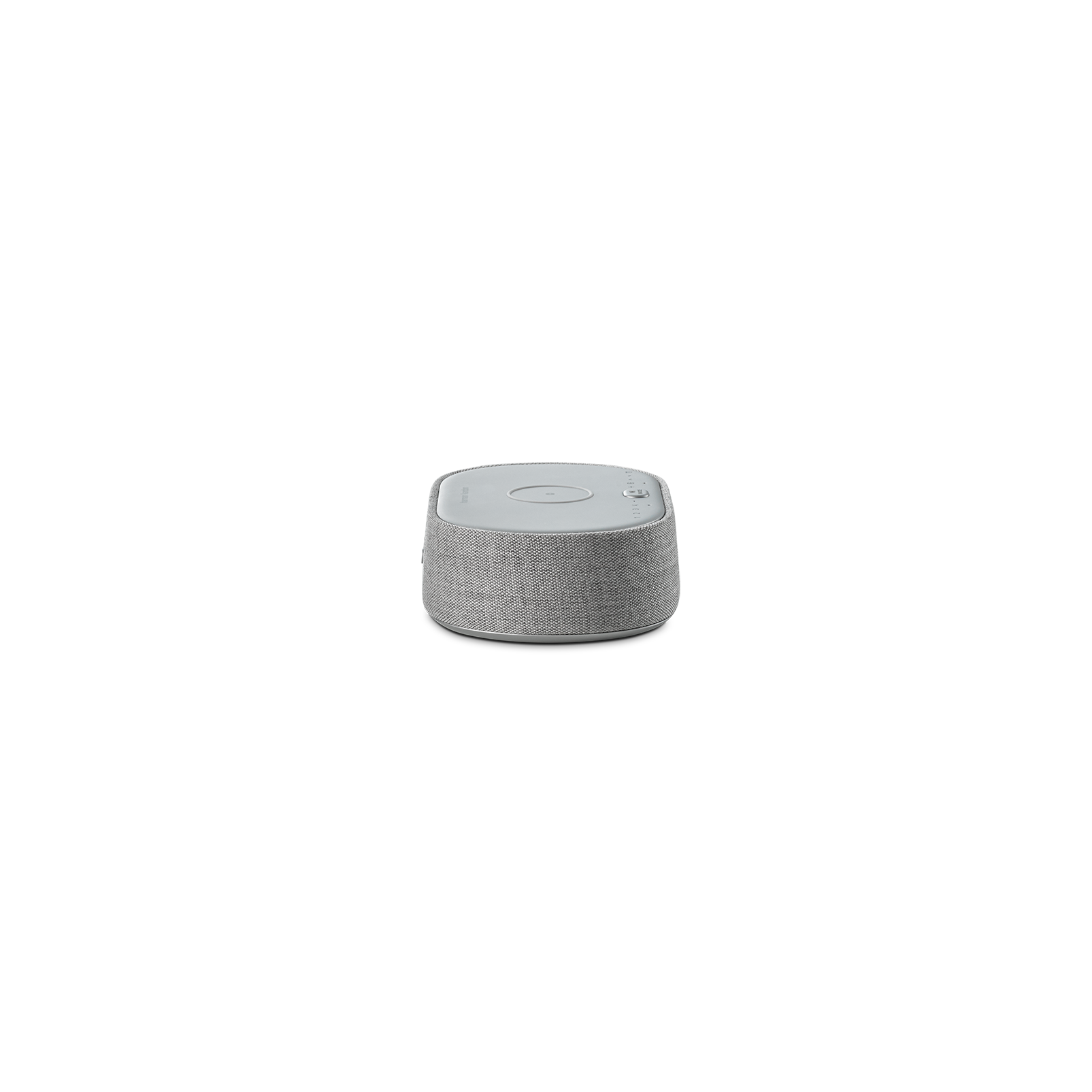 Harman Kardon Citation Oasis - Grey - Voice-controlled speaker with DAB/DAB+ radio and wireless phone charging - Left