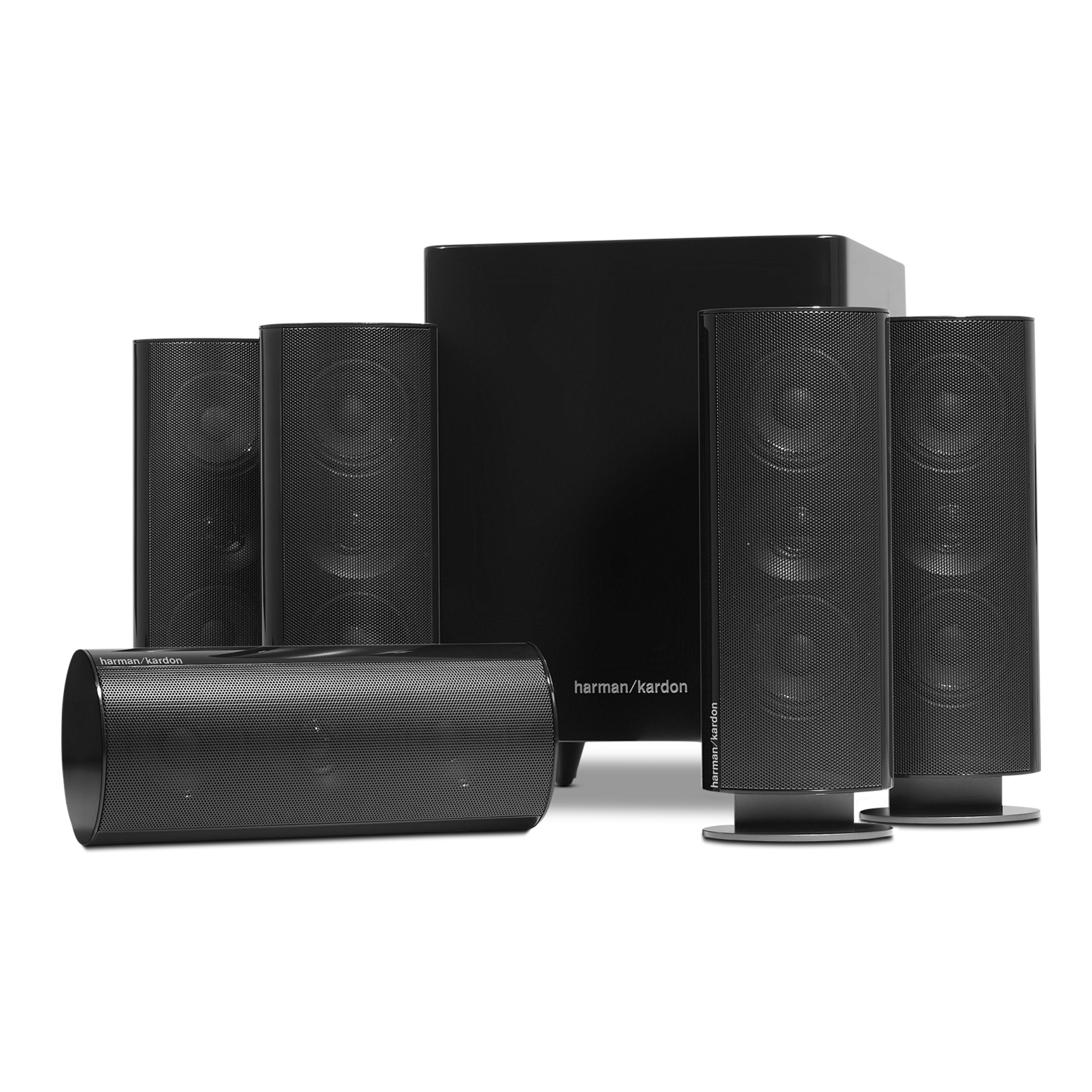 hkts 30 5 1 channel home theatre speaker system. Black Bedroom Furniture Sets. Home Design Ideas