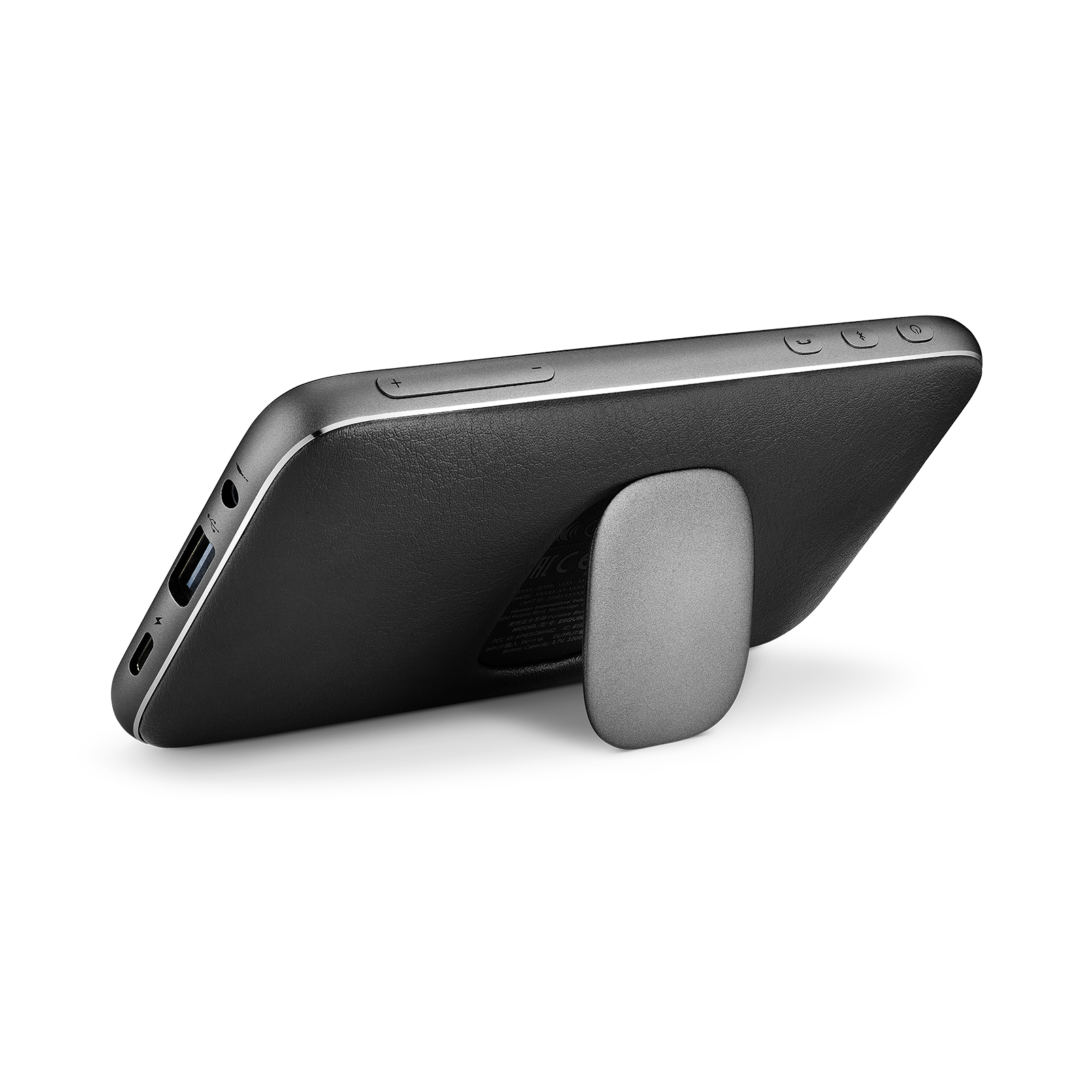 Harman Kardon Esquire Mini 2 - Black - Ultra-slim and portable premium Bluetooth Speaker - Back
