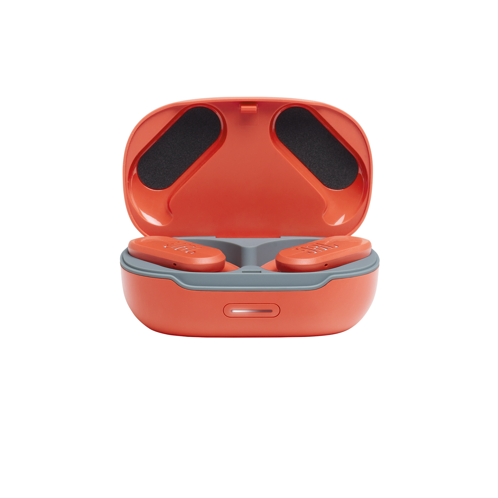 JBL Endurance Peak II - Coral Orange - Waterproof True Wireless In-Ear Sport Headphones - Detailshot 2