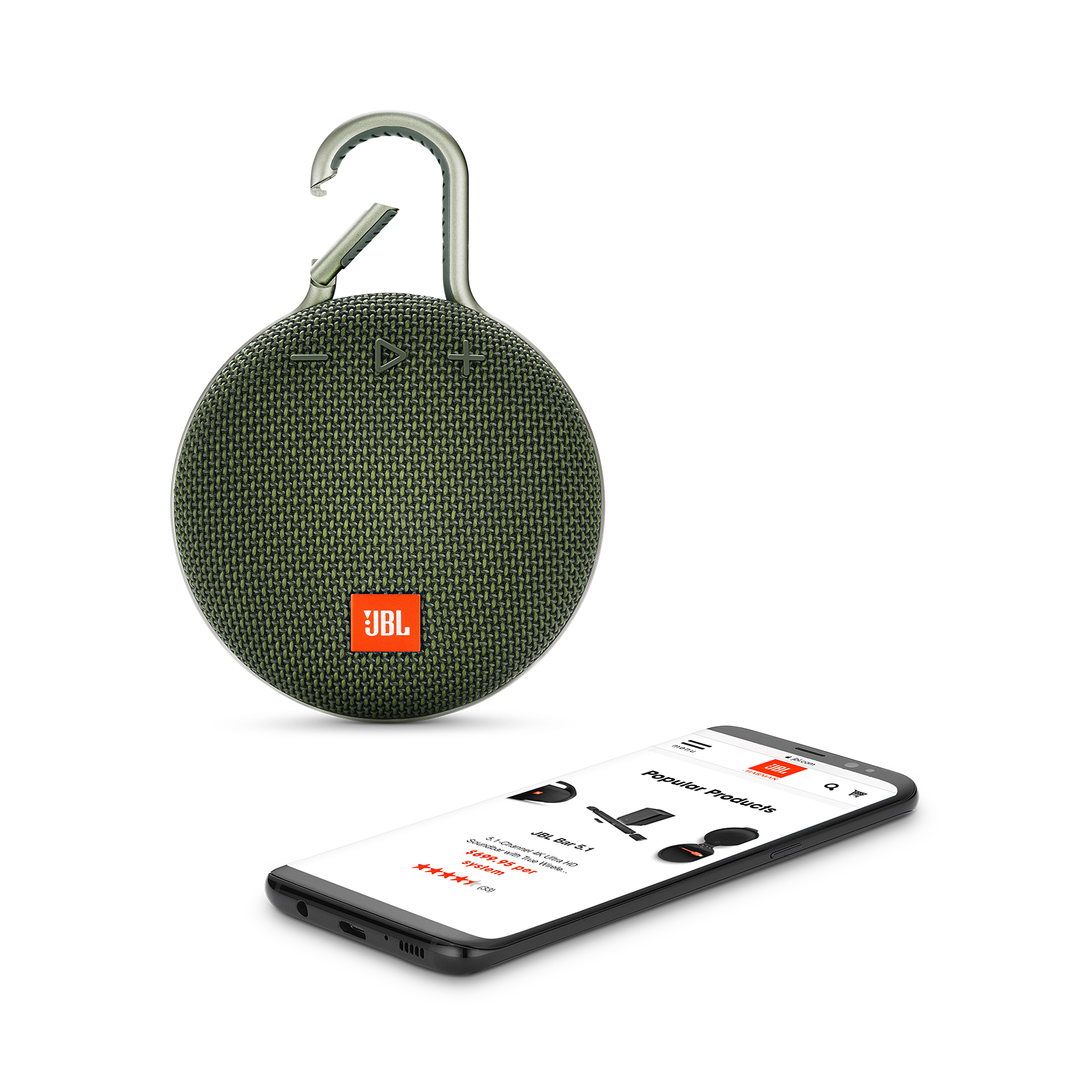 JBL CLIP 3 - Forest Green - Portable Bluetooth® speaker - Detailshot 1