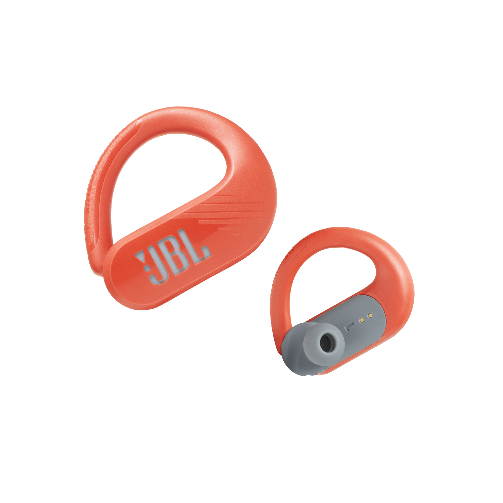 JBL Endurance Peak II - Coral Orange - Waterproof True Wireless In-Ear Sport Headphones - Detailshot 7