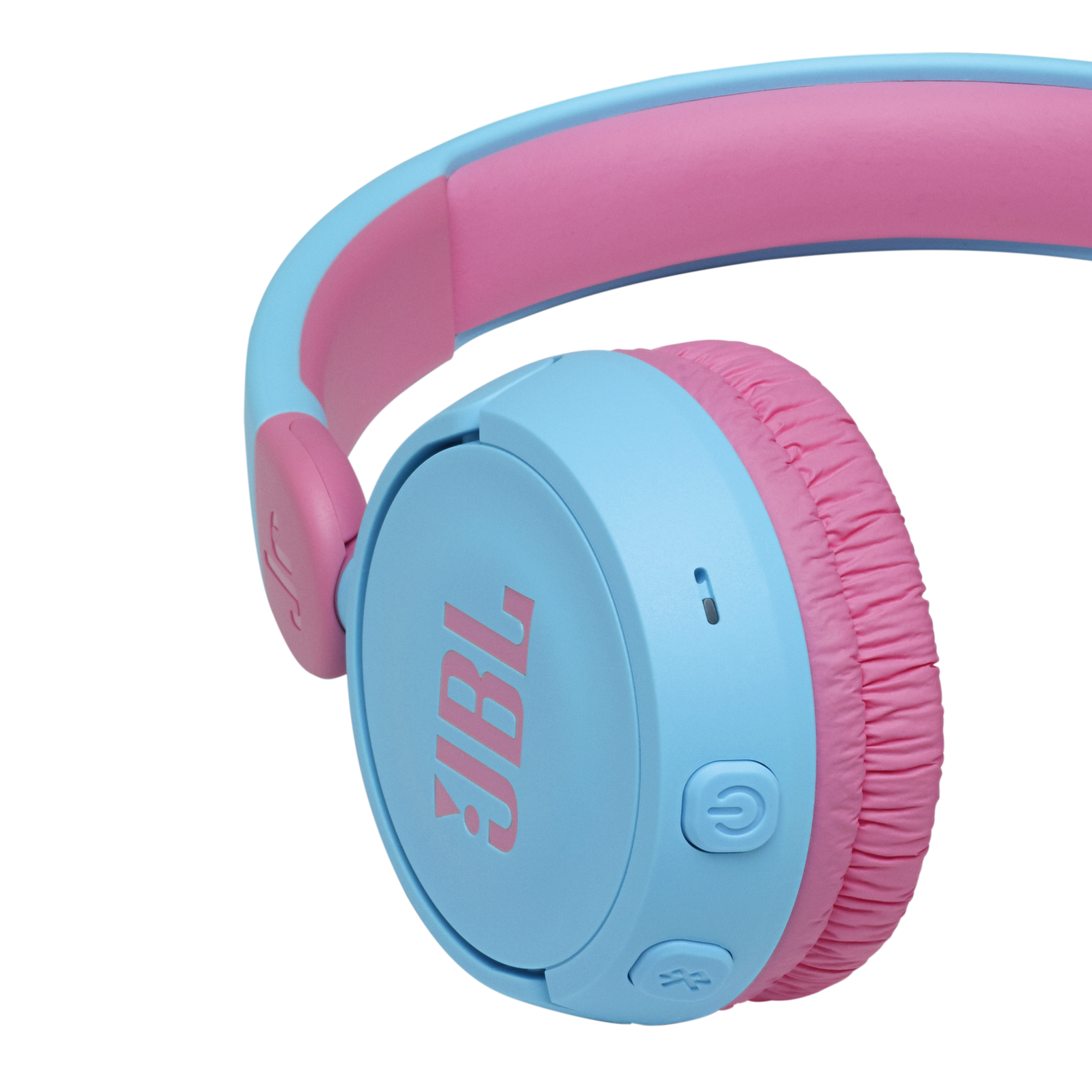 JBL Jr310BT - Blue - Kids Wireless on-ear headphones - Detailshot 3